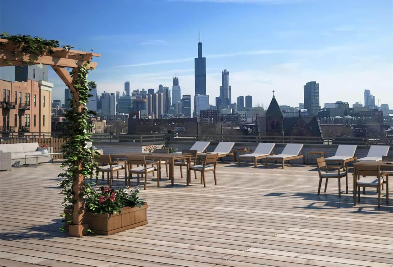 OALUX impressive Chicago roof-top views